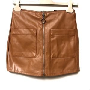 Forever 21 Faux Leather Mini Skort